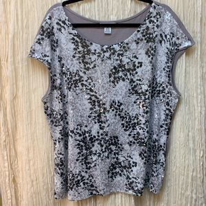 Liz Claiborne Sequin Top